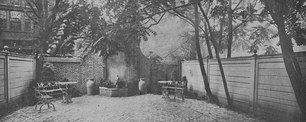 View of the original garden at 1614 Latimer Street