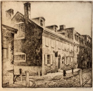 Smith Etching of Sketch Club c 1925
